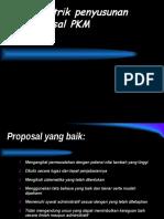 Trik-trik Penyusunan Proposal PKM