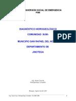DIAGNÓSTICO HIDROGEOLOGICO  SUNI .doc