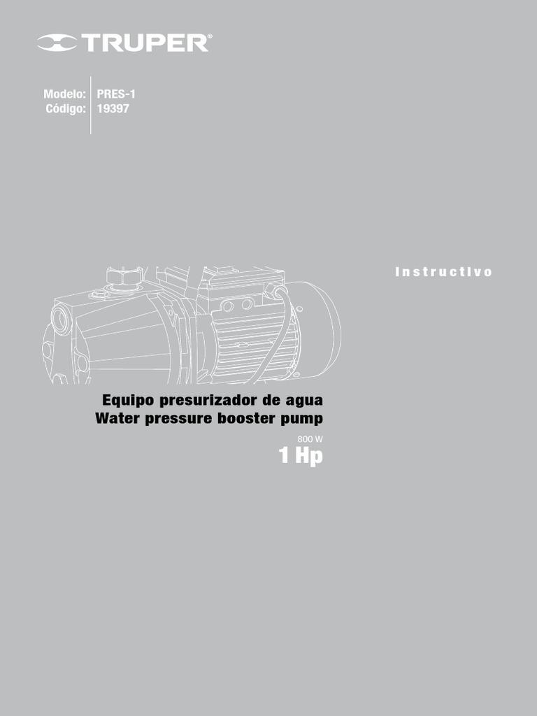 Equipo Presurizador de Agua