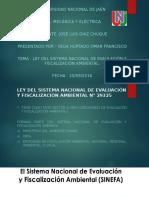 Ley Del Sistema Nacional de Evaluación y Fiscalización ambiental
