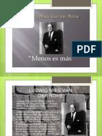 Carlos Diapositivas Mies Van Der Rhoe