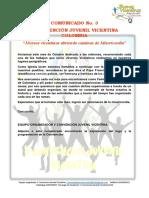 COMUNICADO No 3 - V CONVENCIÓN JUVENIL VICENTINA