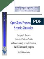 Fenves - OPEN SEES Framework for Seismic Simulation