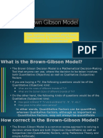Brown-Gibson Model for Better Decisions
