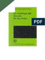 Sociologìa Del Derecho de Max Weber