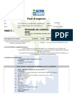 TdR Consultant Plan de Contingence Mali