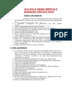DO SÉCULO XIII À UNIÃO IBÉRICA E RESTAURAÇÃO.docx