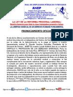Pronunciamiento Seccional ANEP-Correos de C.R. sobre la obstrucción sindical
