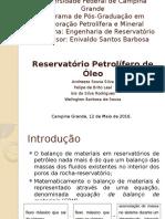 Reservatório petrolífero de óleo