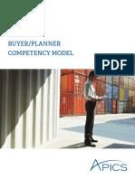 Buyer Planner Competency Model