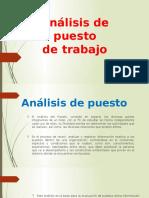 Análisis de Puesto Diapositiva