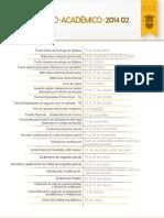 Calendario Académico 2014-02