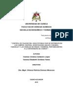 Tesis Analisis de Agua Potable Cuenca