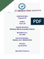 Actividad II Español II