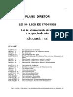 Lei 1.605 85 Lei de Zoneamento Uso e Ocupacao Do Solo