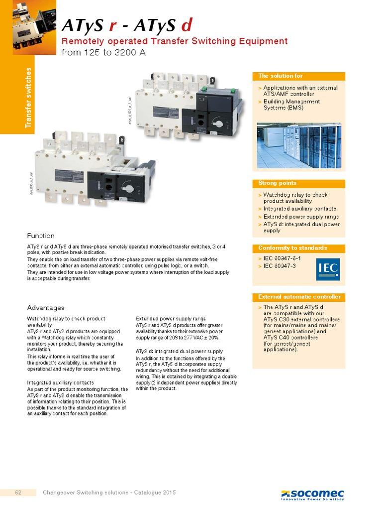 Cat Atysratysd Gb Relay Switch Socomec Ats Wiring Diagram