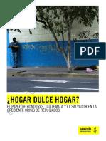 EL PAPEL DE HONDURAS, GUATEMALA Y EL SALVADOR EN LA CRECIENTE CRISIS DE REFUGIADOS