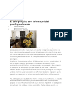 El Daño Psíquico en El Informe Pericial Psicologico Forense