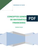 Conceptos Generales de Matemáticas Financieras