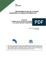 Análisis de Los 20 Años de Competencia en El Sector Bancario Costarricense