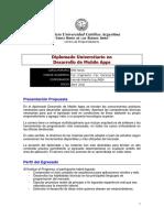 2016 Brochure Diplomado Desarrollo de Mobile Apps
