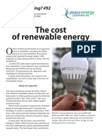 Watt's#92 Cost of Renewable Energy