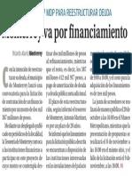 13-10-16 Monterrey va por financiamiento