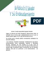 La Deuda Pública en El Salvador Y Su Endeudamiento