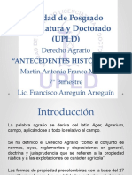 Derecho Agrario - Antecedentes Históricos Del Derecho Agrario