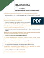 Cuestionario de Psicología Ind.