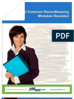 7 Most Common Record Keeping Mistakes