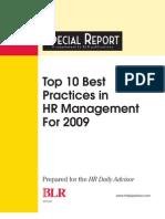 10 Best Practice HR in 2009