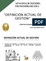 1. Definición Actual de Gestión