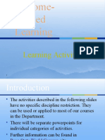Outcome Based Learning Activities