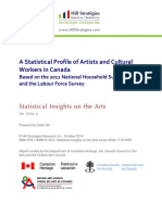 A Statistical Profile of Artists and Cultural Workers in Canada