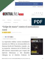 """""""Golpe de Mano"""" Contra El Normalismo Rural"""