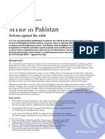 OPM Briefing Note July 2014- MTBF in Pakistan