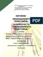 Informe de Ordenamiento Territorial