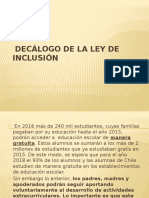 Decálogo Ley de Inclusión.