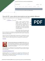 Como Colocar Seus Arquivos Em Uma Partição Diferente (Windows XP)