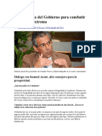 POBREZA en COLOMBIA La Estrategia Del Gobierno Para Combatir La Pobreza Extrema