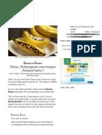 Banana Boats BBQ Recipe