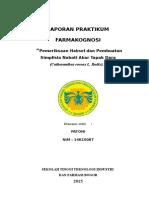 FARMAKOGNOSI - Pemeriksaan Haksel Dan Pembuatan Simplisia
