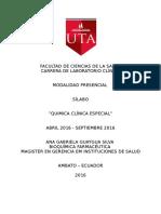 Silabo - Quimica Clinica Especial