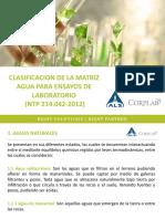 Clasificacion de La Matriz Agua Para Ensayos de Laboratorio (1)