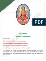 SriSuktam - Vedic Hyme