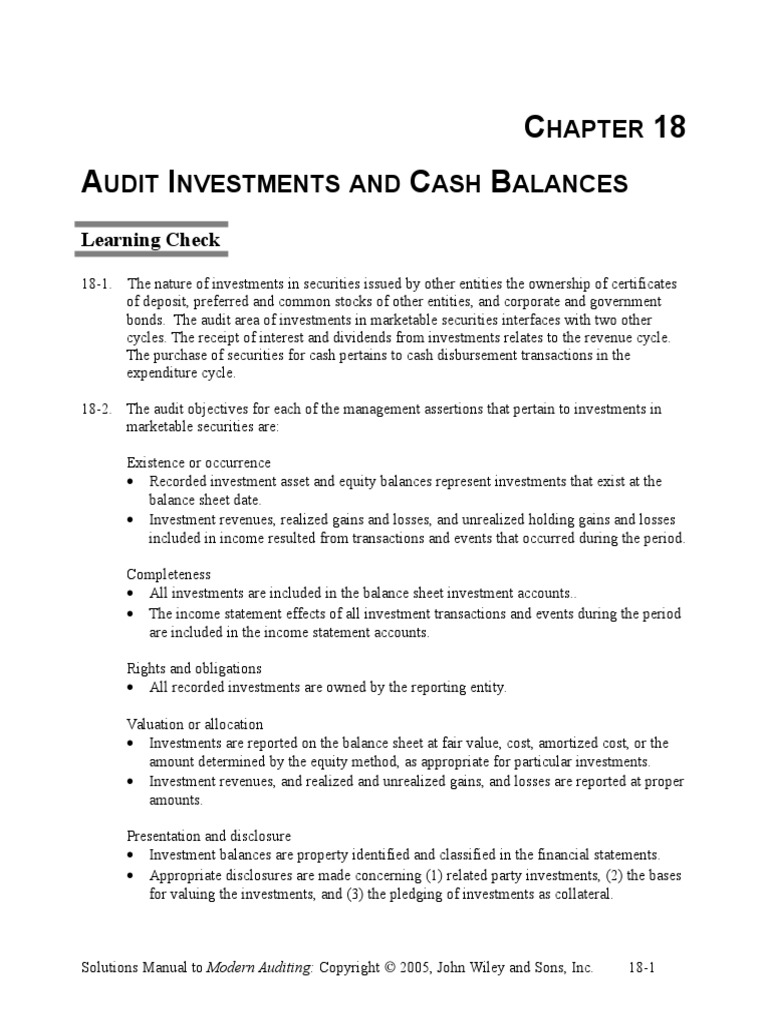 18 audit investments and cash balances ch18fin securities 18 audit investments and cash balances ch18fin securities finance investing 1betcityfo Image collections