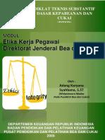 Bea Dan Cukai -Etika Kerja Dan Tupoksi DJBC