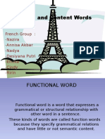 Function and Content Words