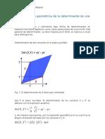 Representación Geométrica de La Determinante de Una Matriz